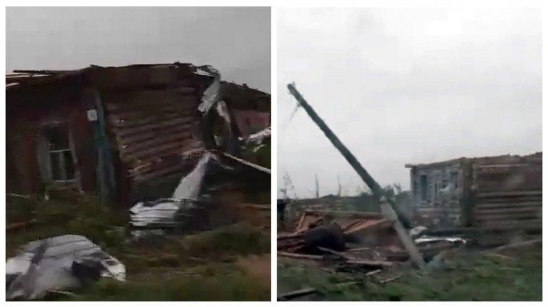 Штормовым ветром сдуло целое село