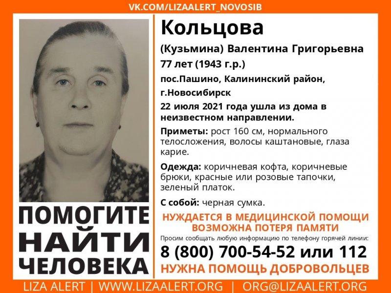 Пенсионерку с потерей памяти ищут в лесу под Новосибирском