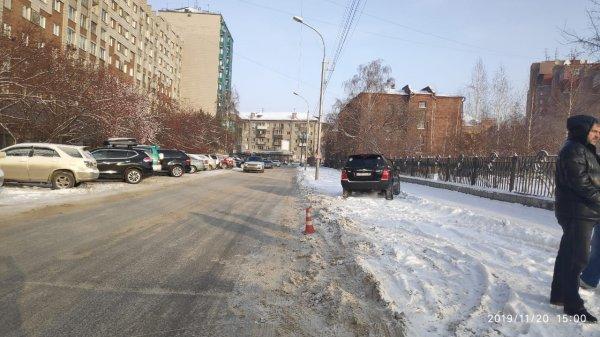 Десятилетнюю девочку иномарка сбила в центре Новосибирска