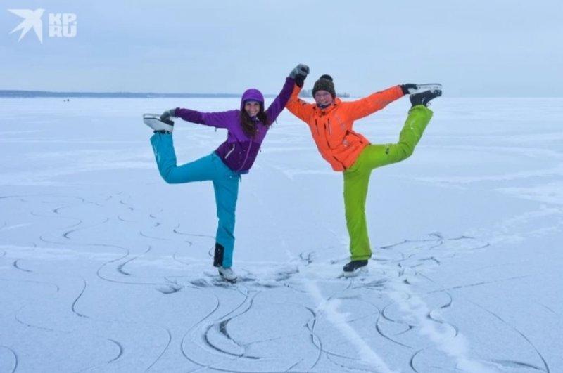 На коньках по Обскому морю: свой зимний «Байкал» в Новосибирске