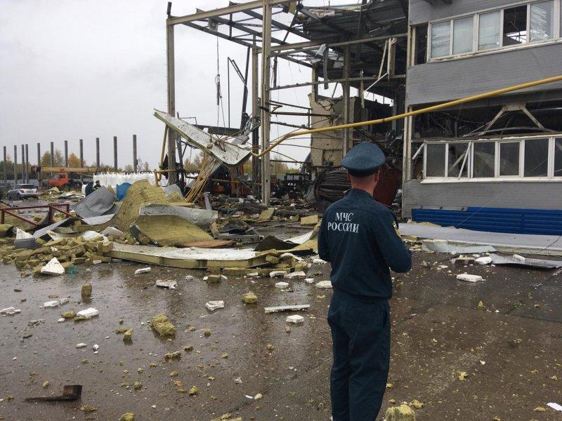 В Первомайском районе обрушилась котельная в шинном центре