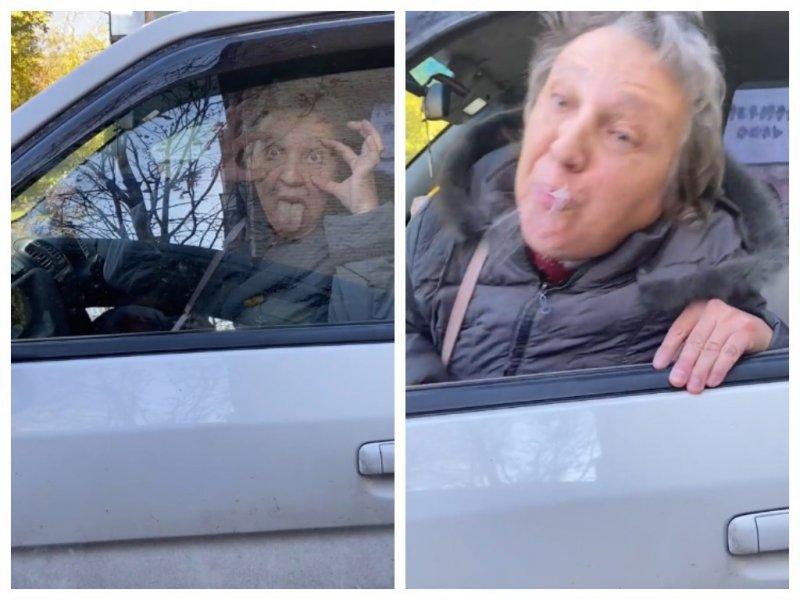 «Свою рожу сними, крокозябра!»: пенсионерка устроила ДТП, покривлялась и плюнула в жительницу Новосибирска (ВИДЕО)