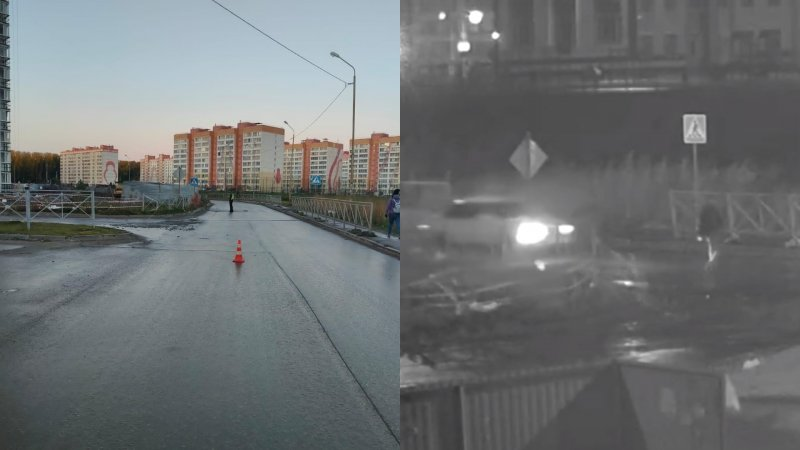 Сбил пешехода и даже не пытался оказать помощь: появилась запись ночного ДТП в Новосибирске (ВИДЕО)