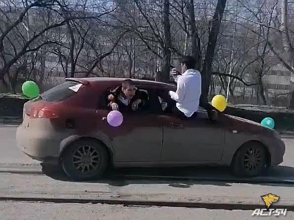 Сотрудники ГИБДД ищут водителя свадебного кортежа, чтобы лишить его прав