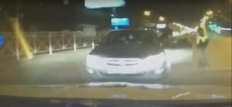Автоинспекторы опубликовали кадры ночной погони за Subaru по центру Новосибирска