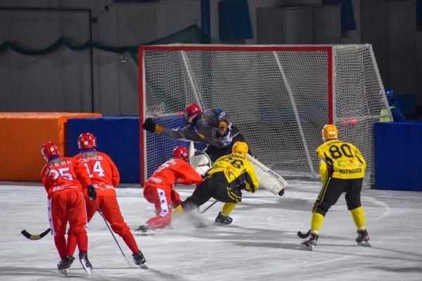 Хоккей с мячом: «Сибсельмаш» дома проиграл аутсайдеру