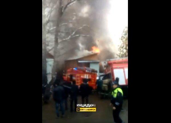 Видео: газ взорвался во время пожара на Хилокской