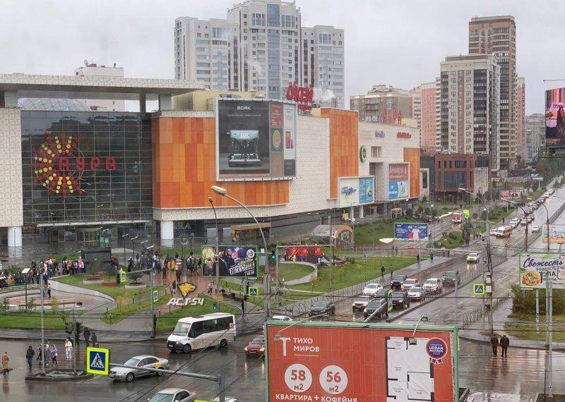 Полиция ищет отправителей сообщений о минировании ТЦ в Новосибирске