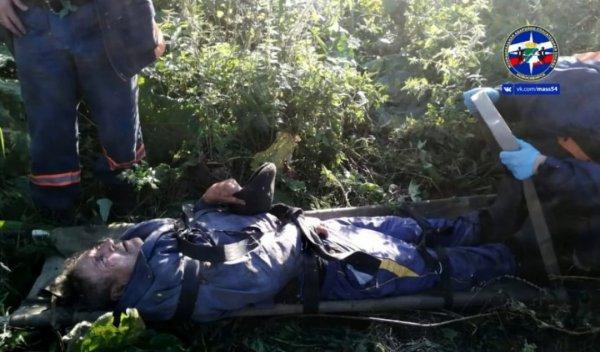 Новосибирские спасатели вытащили из леса парализованного грибника-пенсионера