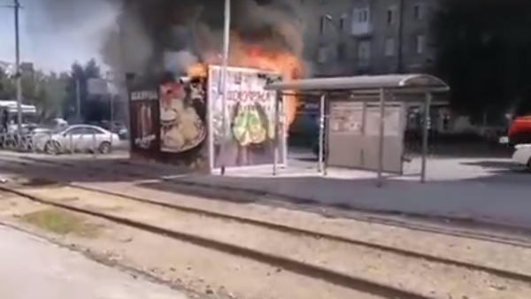 В загоревшемся киоске с шаурмой на площади Маркса пострадал человек