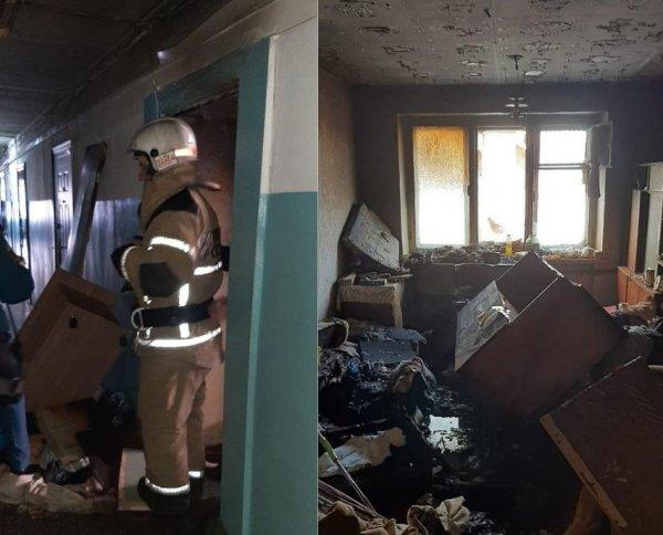 Пожар в общежитии в Дзержинском районе: эвакуировали 18 взрослых и одного ребенка