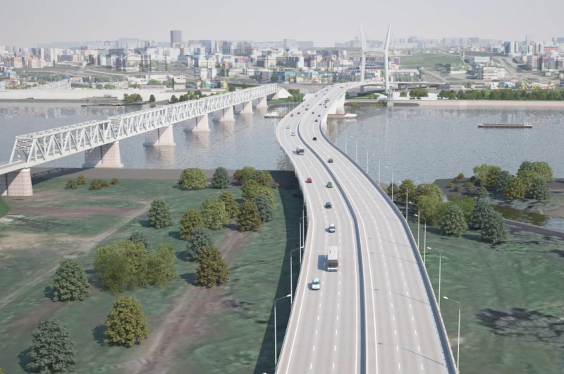 Депутат горсовета вручил УК РФ в подарок строителям платного моста в Новосибирске