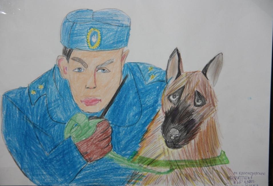 Рисунок полицейские глазами детей